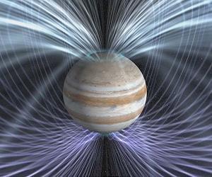 Jupiter's magnetic field-artist's concept