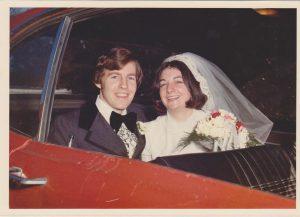 Bob and Cindy Clancy wedding getaway in my Ford