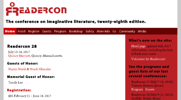 See You at Readercon?